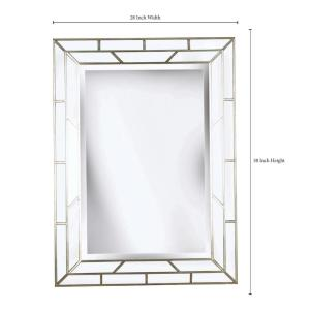 Lens 38 in. x 28 in. Wood Framed Mirror
