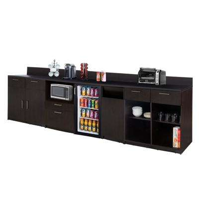 Coffee Kitchen Espresso Sideboard with Lunch Break Room Functionality with Assembled Commercial Grade 3399