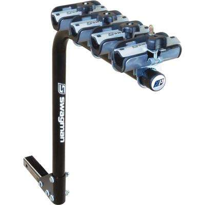 Black XP Standard 4-Bikes Single Arm RV Rack