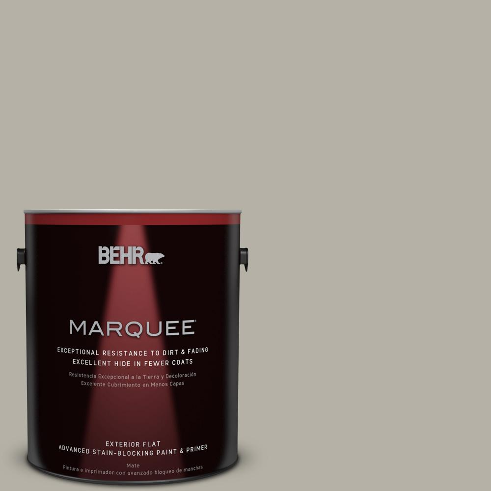 1 gal. #HDC-CL-27G Rushmore Gray Flat Exterior Paint