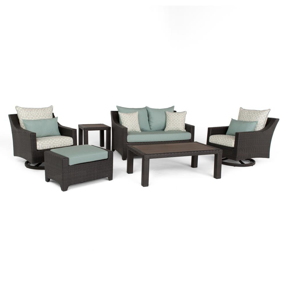 Rst Brands Deco Deluxe 6 Piece All Weather Wicker Patio