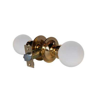 Moon Crystal Brass Passive Door Knob with LED Mixing Lighting Touch Activated
