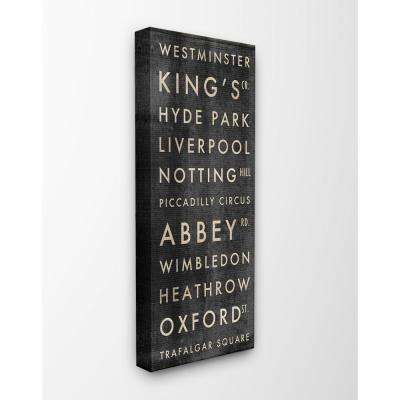 "10 in. x 24 in. ""London Subway Places And Parks"" by Aubree Perrenoud Printed Canvas Wall Art"