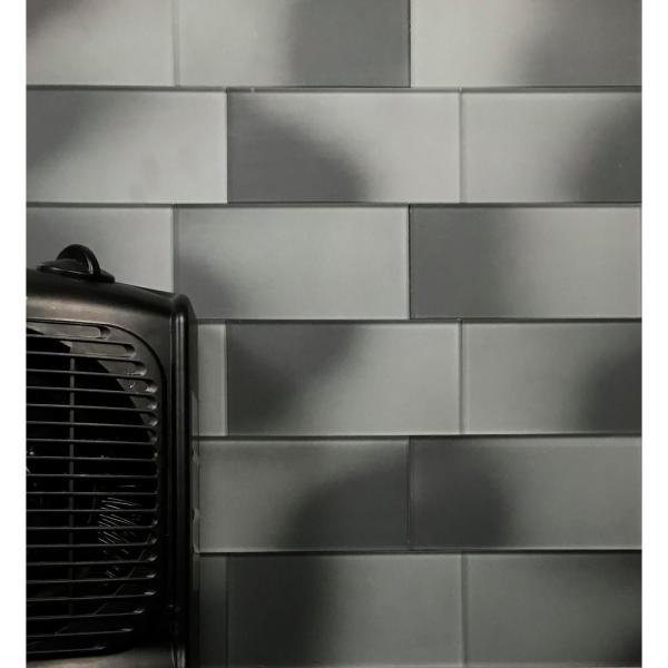 Abolos Forever Gray Cloud Subway 3 In X 6 In Matte Glass Wall Tile 0 125 Sq Ft Pc Hmdfom0306 Gc The Home Depot