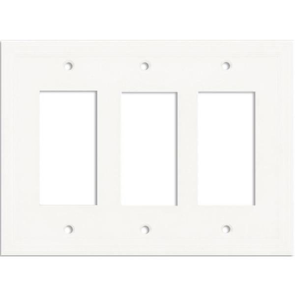 White 3-Gang GFCI Wall Plate (1-Pack)