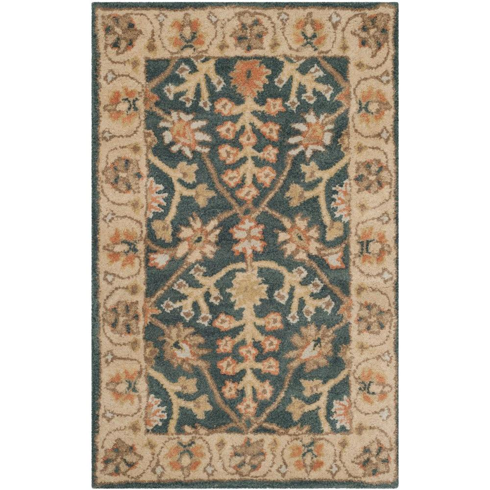 Classic Blue/Light Gold 2 ft. x 3 ft. Area Rug