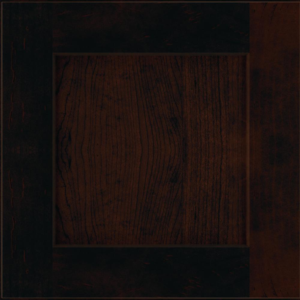 Thomasville Studio 1904 14.5x14.5 in. Cabinet Door Sample in Costello Maple Chocolate