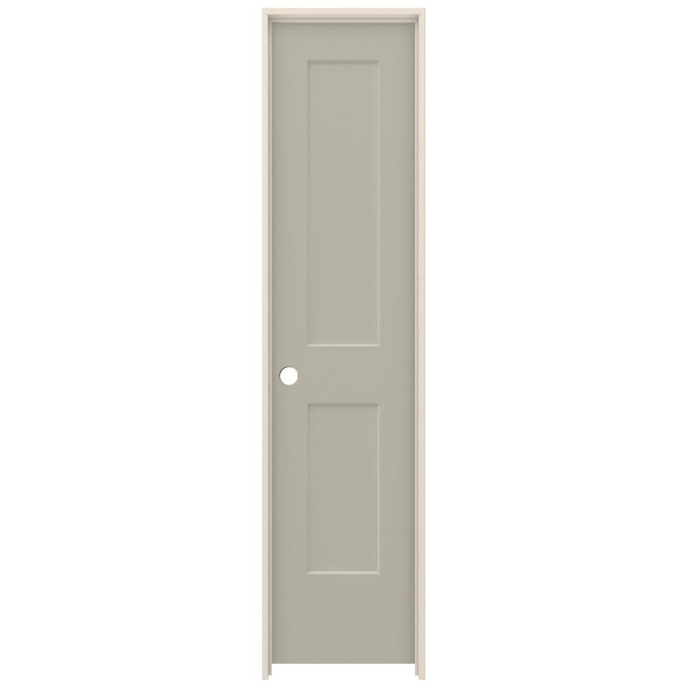 20 in. x 80 in. Monroe Desert Sand Right-Hand Smooth Solid