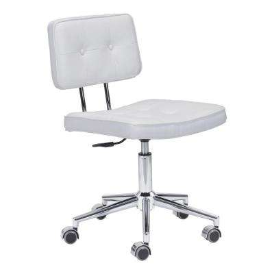 Series White Leatherette Office Chair