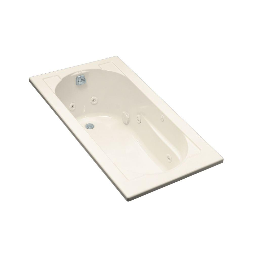 KOHLER Devonshire 5 ft. Acrylic Oval Drop-in Whirlpool Bathtub in ...