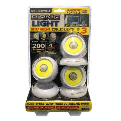 Cordless and Portable Motion Sensor Ultra Bright COB LED Lights (3-Pack)