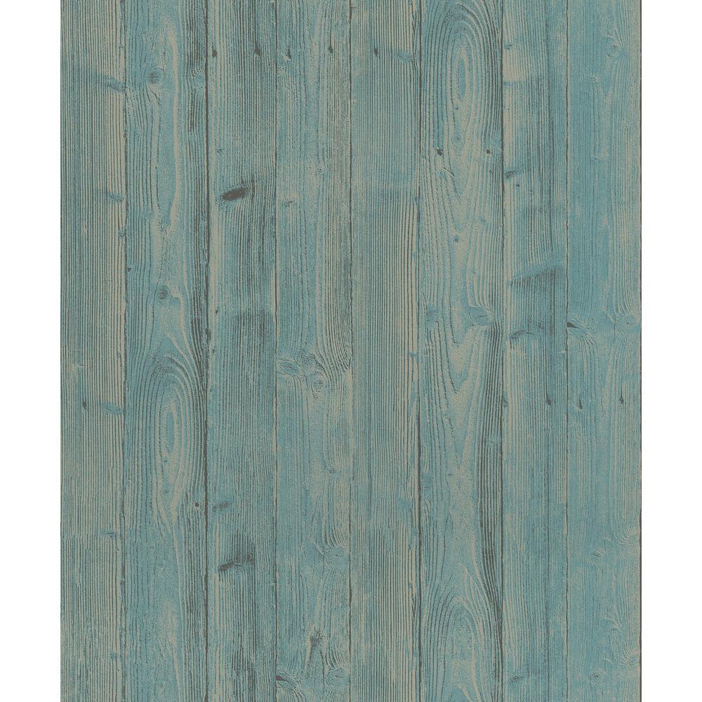 56.4 sq. ft. Talbot Green Wood Wallpaper