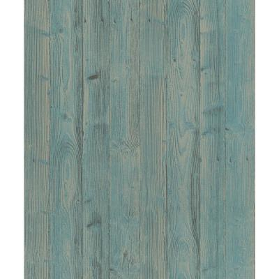 8 in. x 10 in. Talbot Green Wood Wallpaper Sample