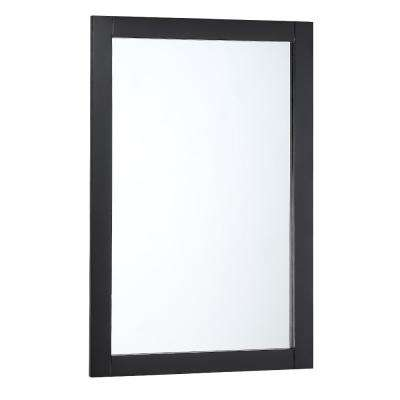 Bradford 20 in. W x 30 in. H Framed Wall Mirror in Black