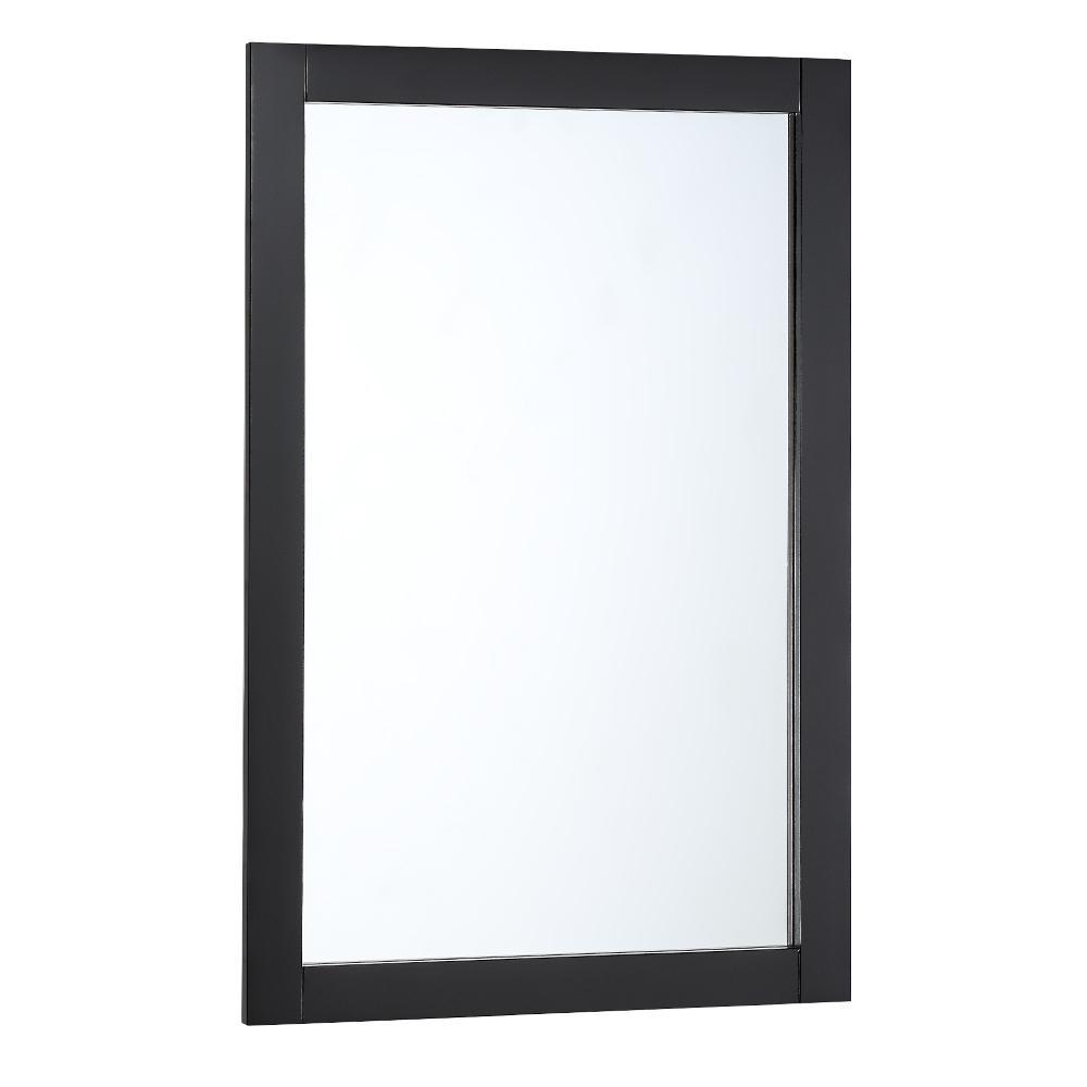 Bradford 20 in. W x 30 in. H Framed Wall Mirror in Black