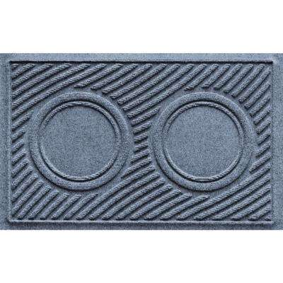 Aqua Shield Bluestone 18 in. x 28 in. Dog Bowl Wave Pet Mat