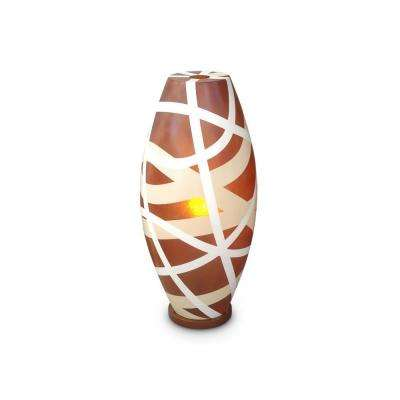 Cape Town 26 in. Amber Table Lamp With Modern Airbrush Stroke Design