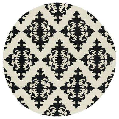 Evolution Black 6 ft. x 6 ft. Round Area Rug