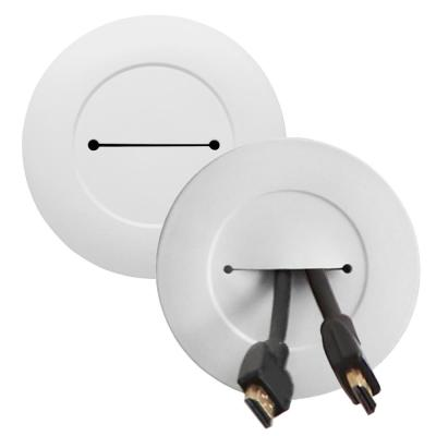 Wiremold Wiremold In Wall Low Voltage TV Pair of Grommet Kit with Mounting Brackets and Hole Saw, White (2 Pack)