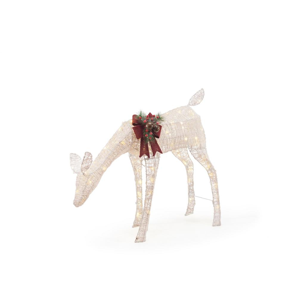 Home Accents Holiday 33 In Led Lighted White Pvc Grazing
