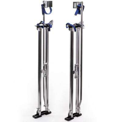 Professional 46 in. to 64 in. Aluminum Drywall Sheet Lifter Stilts with Adjustable Height