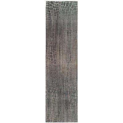 Valencia Gray/Multi 2 ft. x 10 ft. Runner Rug