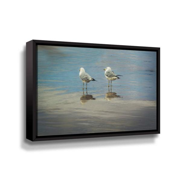 ArtWall 'Silent they wait' by Eunika rogers Framed Canvas Wall Art