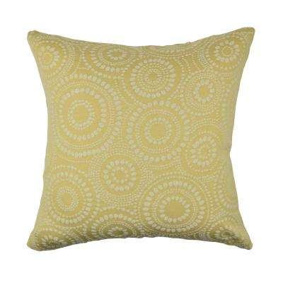 Pastel Yellow Circle Link Dotted Throw Pillow