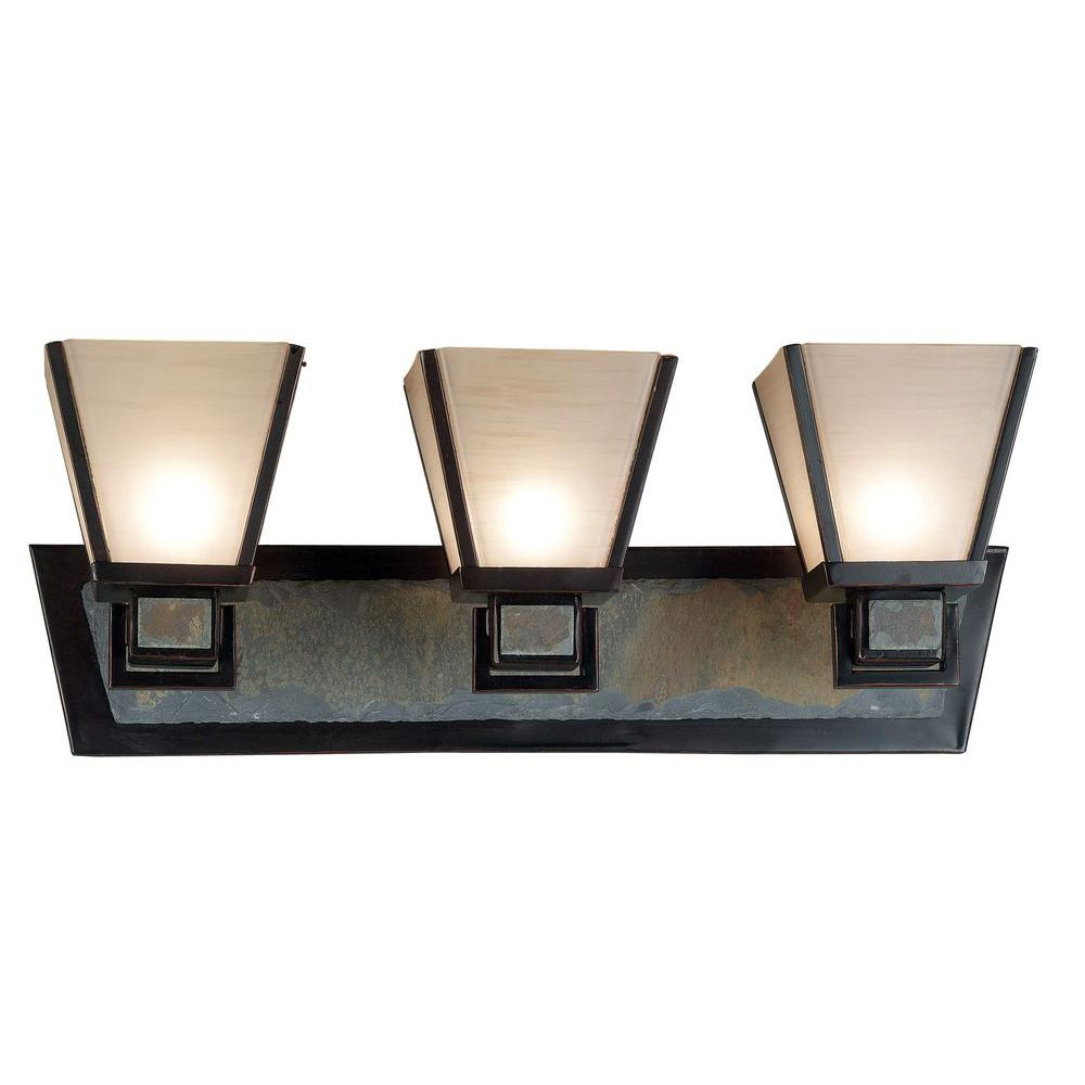 Kenroy Home Clean Slate 3-Light Oil Rubbed Bronze Wall Vanity ...