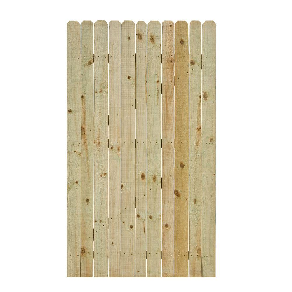 3 5 Ft W X 6 Ft H Pressure Treated Pine Stockade Fence