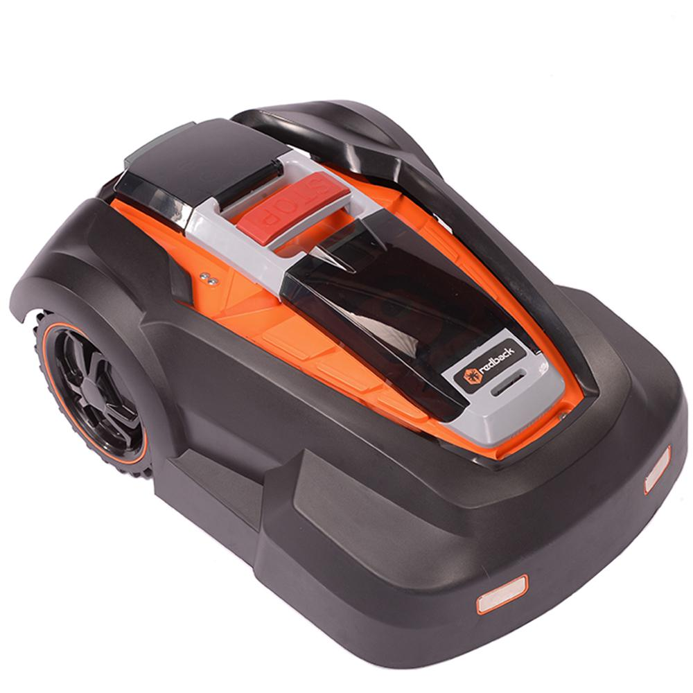 MowRo 4.0 Ah Lithium-Ion Easy, Safe, Fully Autonomous Robotic Lawn Mower with Install Kit, by Redback - RM24 (9.5in.)