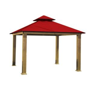 12 ft. x 12 ft. ACACIA Aluminum Gazebo with Red Canopy by
