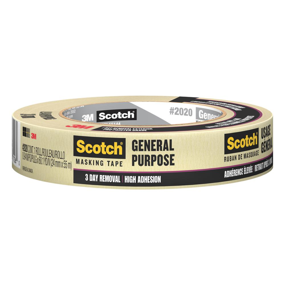 3M Scotch 0.94 in. x 60.1 yds. Painting Production Masking Tape