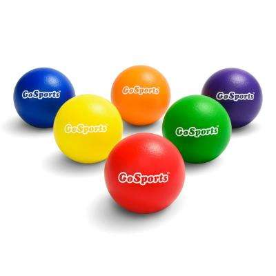 6.25 in. Elephant Skin Dodgeball Set with Mesh Carry Bag (Set of 6)