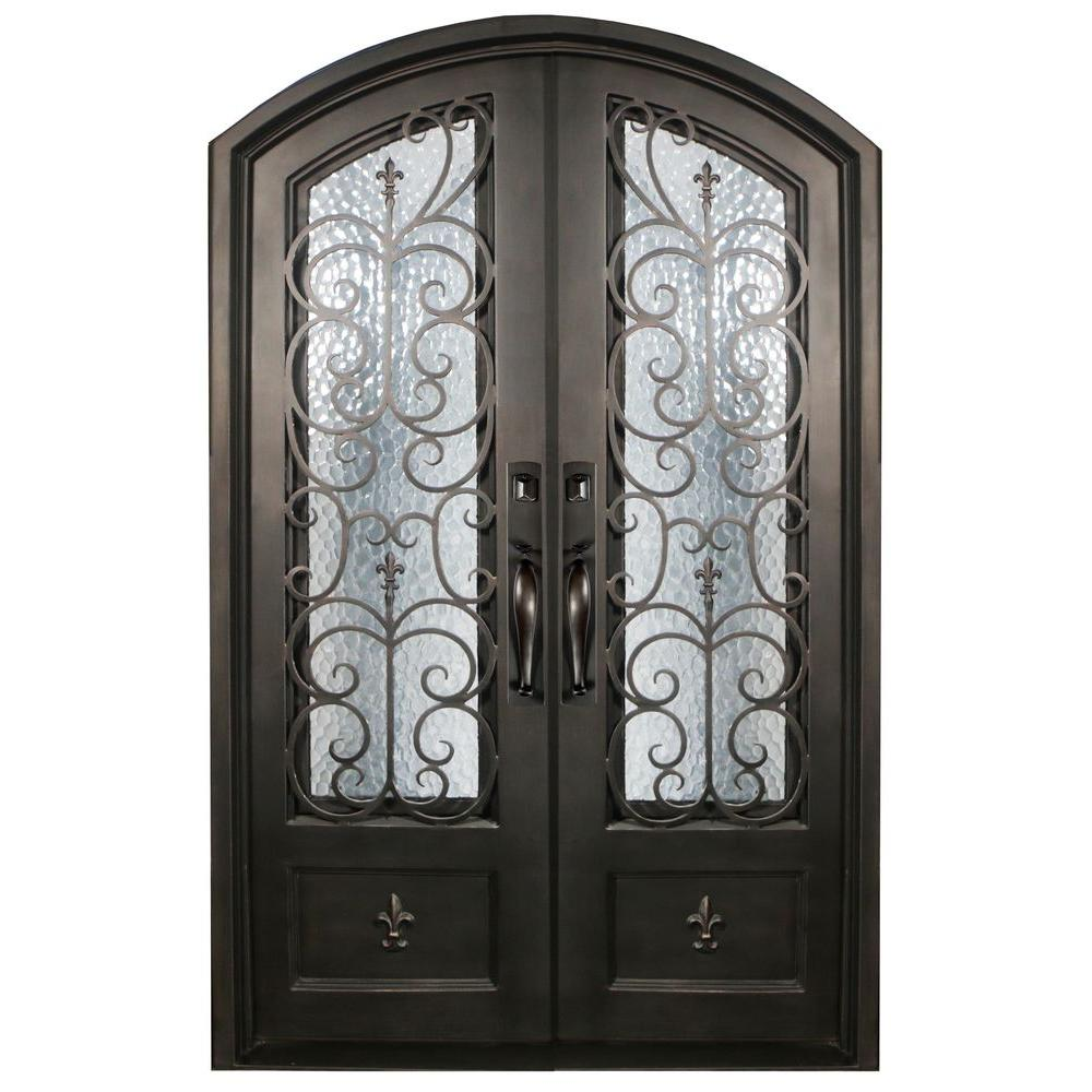 iron doors unlimited 62 in x 82 in orleans classic 3 4 lite