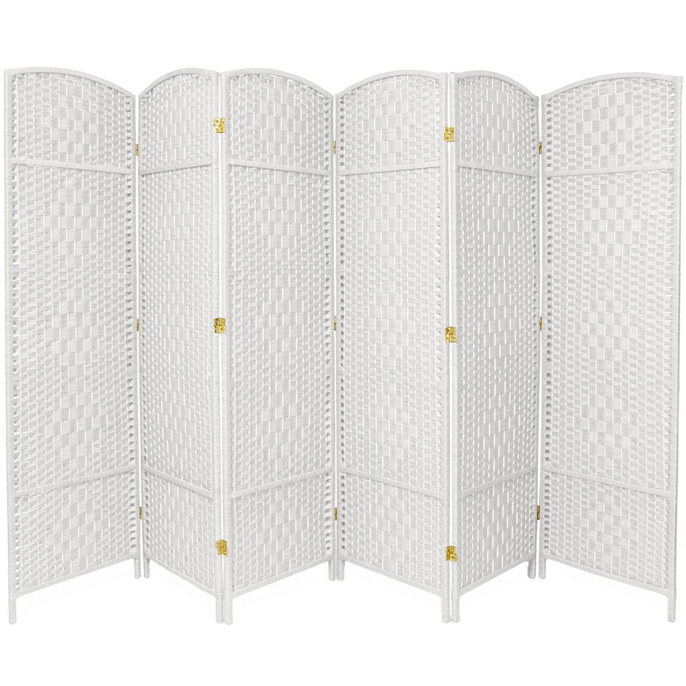 6 ft white 6 panel room divider fbopdmnd6pwht the home depot