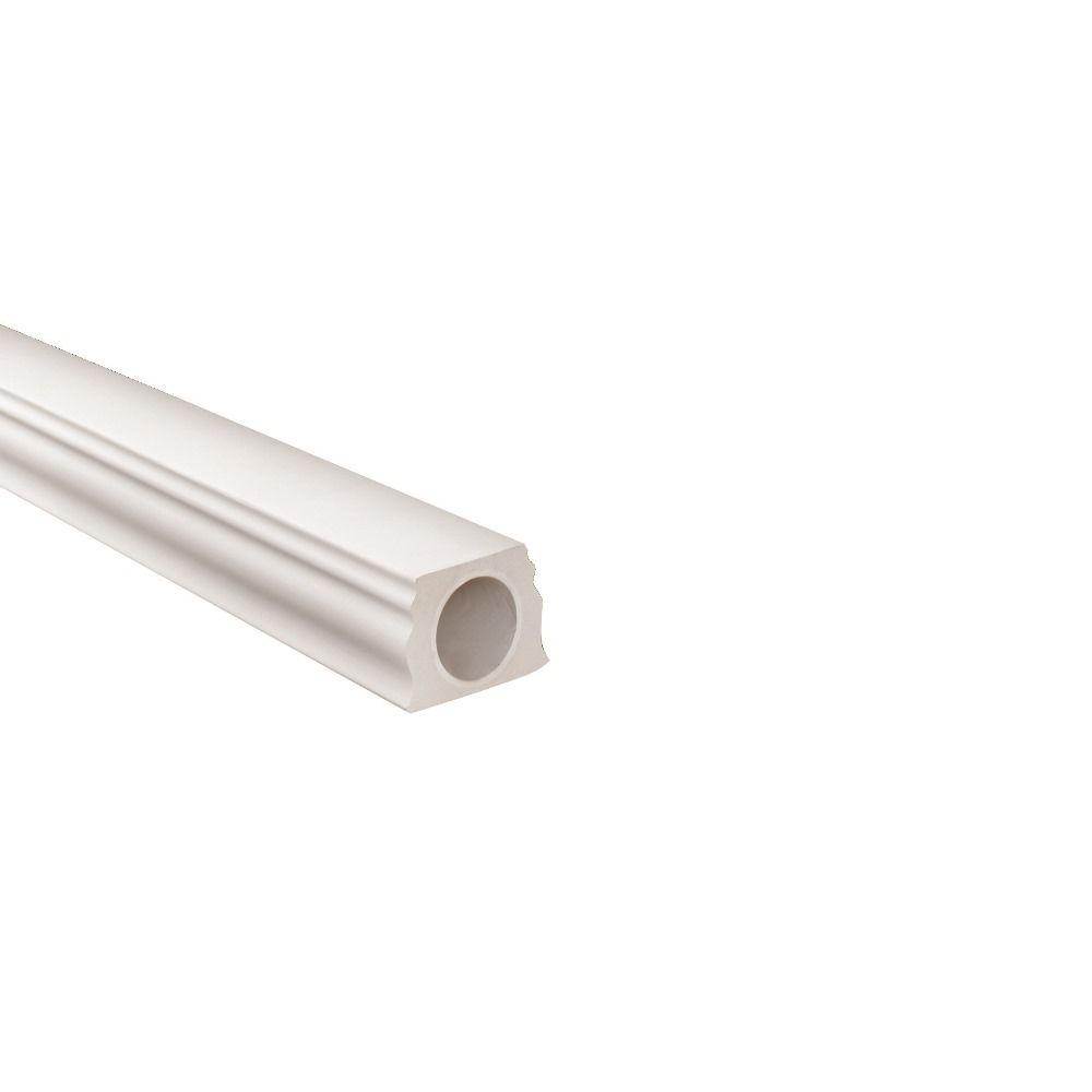 Fypon 7 in. x 5-1/4 in. x 96 in. Polyurethane Straight Bottom Rail for 7 in. Balustrade System