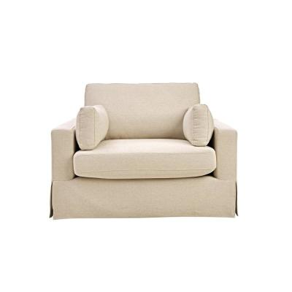 Addilyn Linen Jute Arm Chair