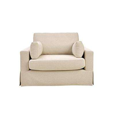 Addilyn Linen Jute Arm Chair