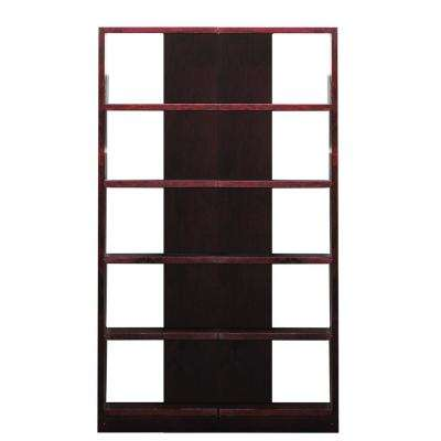 Cherry Finish 2-Units 10-Shelves Reversible Tower