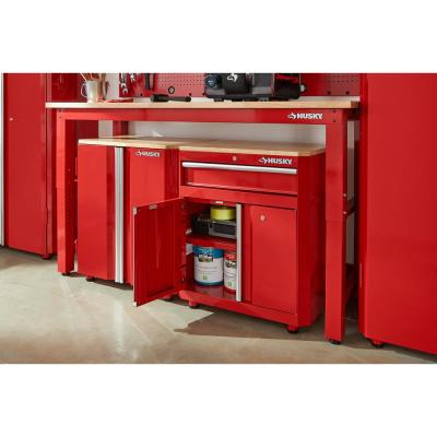 28 in. W x 33 in. H x 18 in. D 1-Drawer 2-Door Steel Garage Base Cabinet in Red