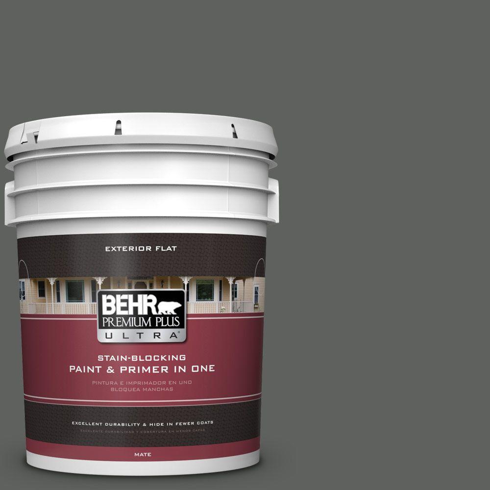 BEHR Premium Plus Ultra 5-gal. #N460-6 Hematite Flat Exterior Paint