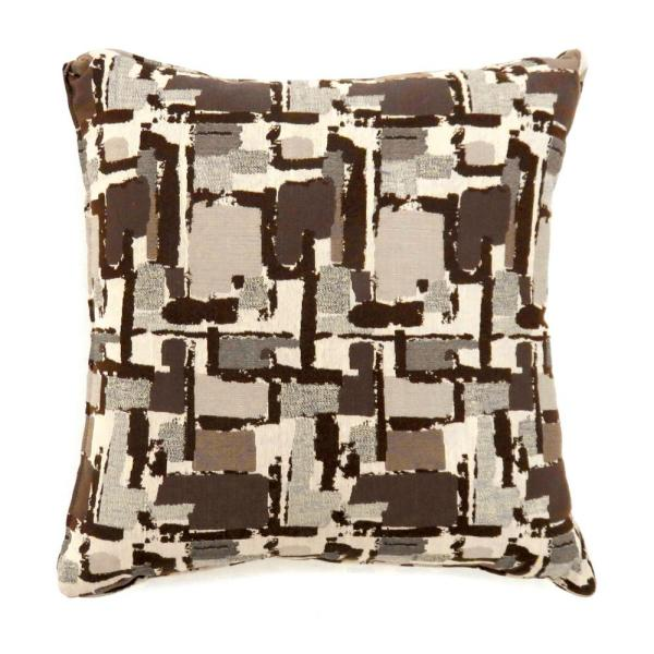Concrit 18 in. Contemporary Throw Pillow in Brown (Pack of 2 ...