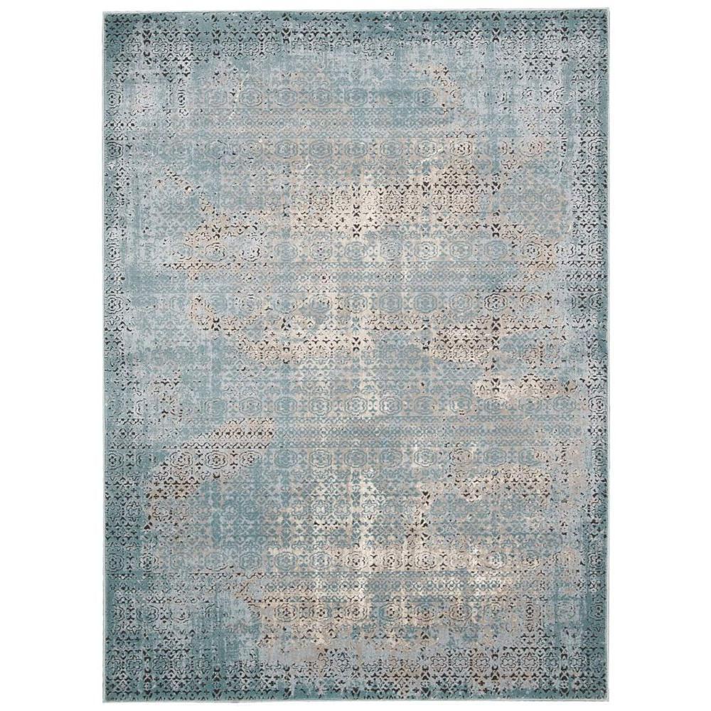 Karma Blue 8 ft. x 11 ft. Area Rug