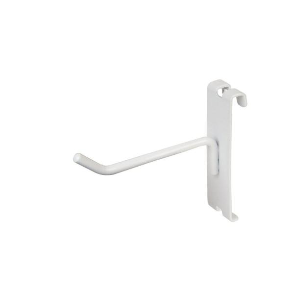 4 in. White Gridwall Hooks for Grid Panel Display (50-Box)