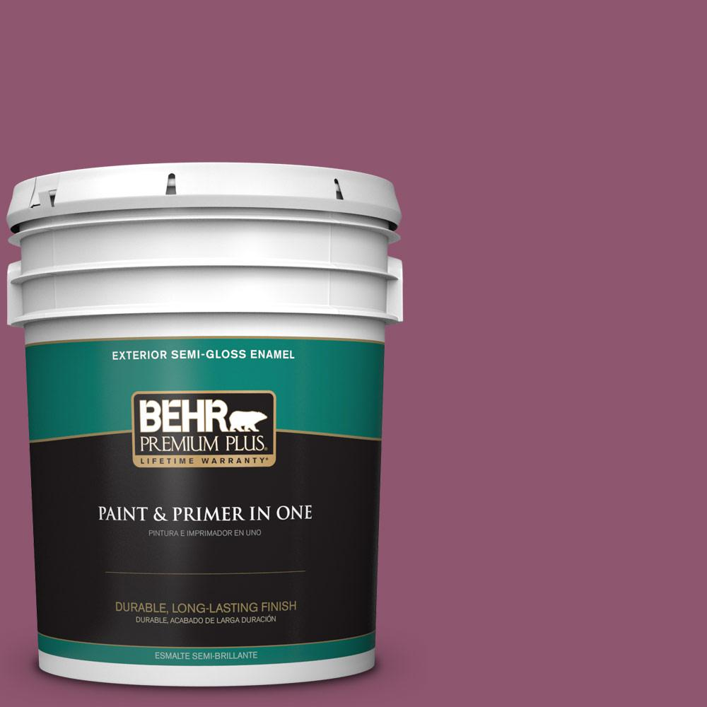 5 gal. #PPU1-17 Majestic Orchid Semi-Gloss Enamel Exterior Paint