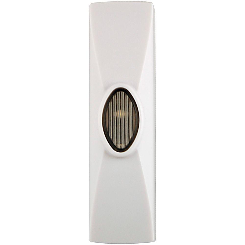 GE White Wireless LED Push Button