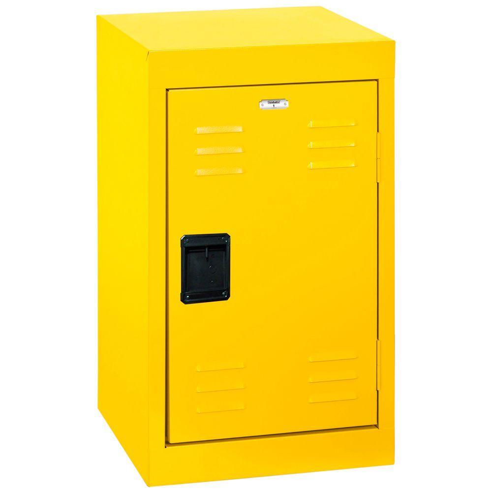 Sandusky 24 In H Single Tier Welded Steel Storage Locker In Yellow Lf1b151524 Ey The Home Depot