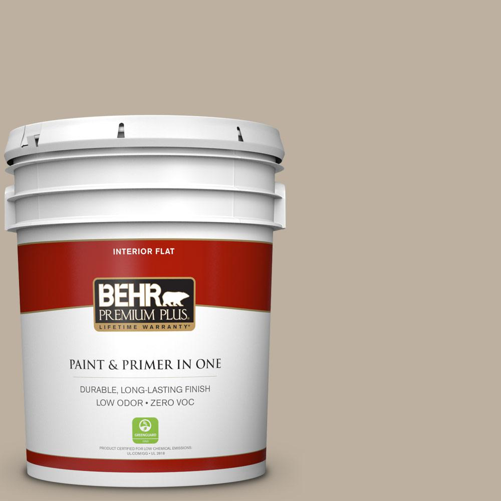 5 gal. #750D-4 Pebble Stone Flat Zero VOC Interior Paint and