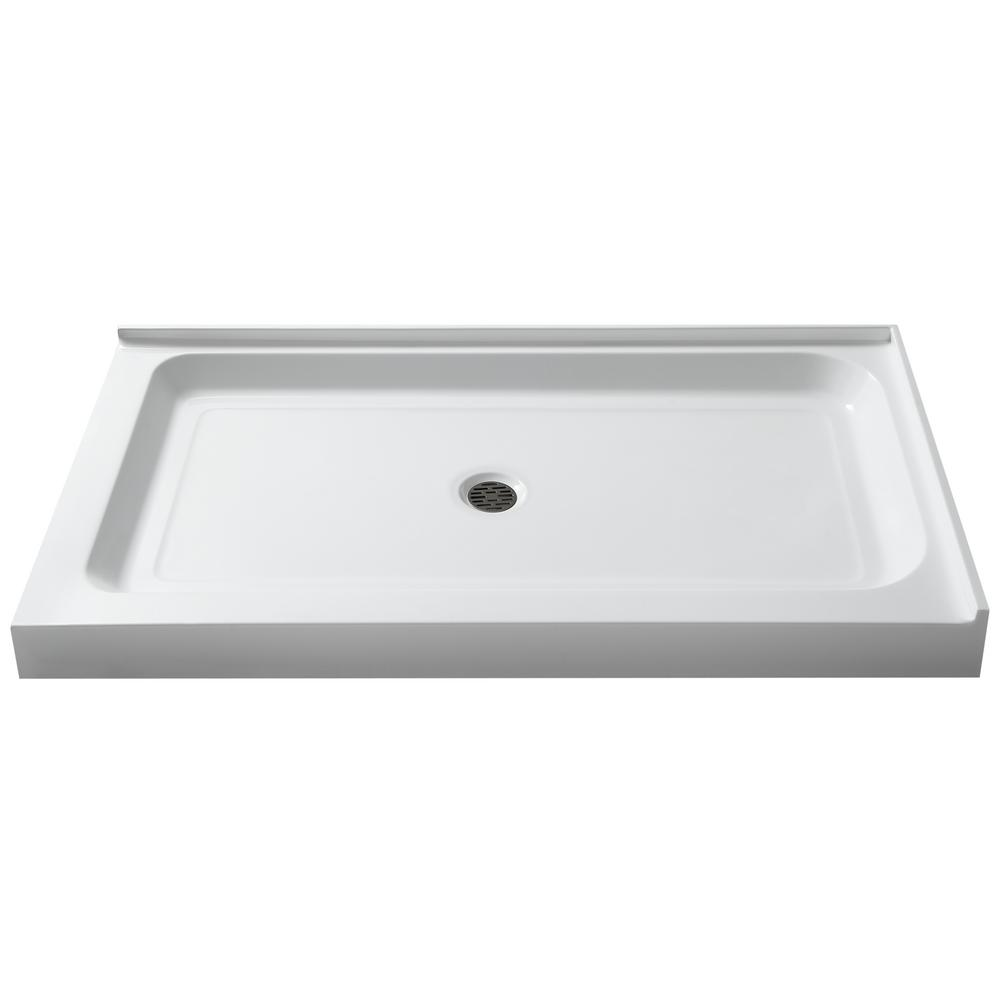 ANZZI Port 36 in. x 48 in. Double Threshold Shower Base in White